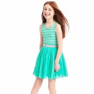 Gap girls sea foam tank tulle dress